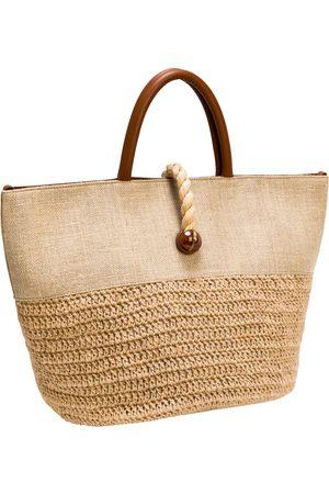 Serena Uziyel Almeria Natural Large Round Tote Bag