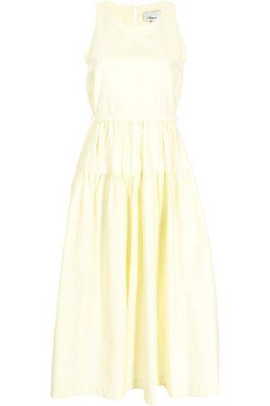 3.1 Phillip Lim Tie-fastening cotton tiered dress