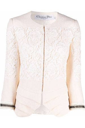 Christian Dior Women Jackets - 2007 pre-owned lace single-breasted jacket - Neutrals
