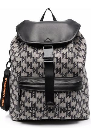 Karl Lagerfeld K/Monogram jacquard backpack - Neutrals