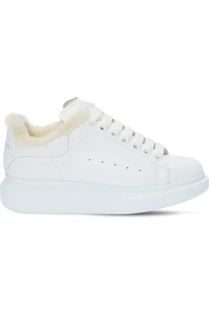 ALEXANDER MCQUEEN Women Trainers - 45mm Leather & Shearling Sneakers