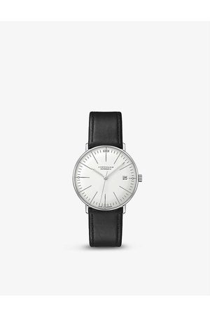 Junghans 27/4105.02 Max Bill Kleine stainless-steel and leather automatic watch