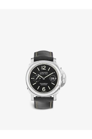 Bucherer Certified PRE Owned Pre-loved Panerai PB0553677 Luminor stainless steel and leather automatic watch