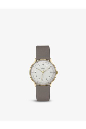 Junghans 27/7108.02 Max Bill Kleine stainless-steel and leather automatic watch