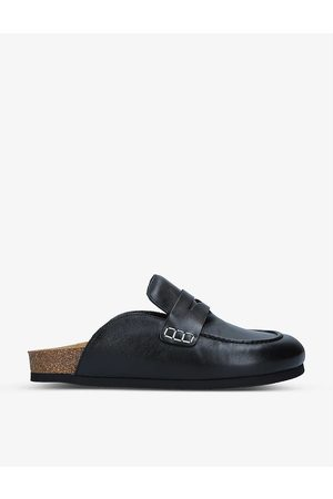 JW Anderson Backless leather loafers
