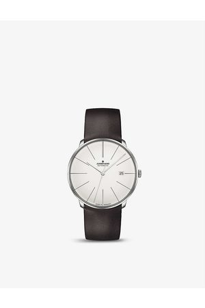 Junghans 27/4152.00 Meister Fein stainless steel and leather automatic watch