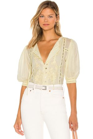 Tularosa Brielle Embroidered Top in . Size M, S, XL, XS, XXS.