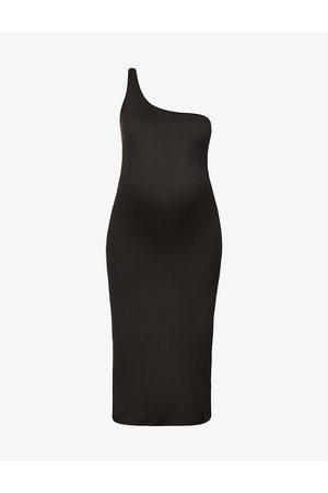 Bumpsuit The Sarah asymmetric stretch-woven maxi dress