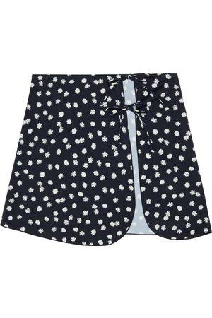 ONIA Woman Becca Floral-print Stretch-jersey Mini Skirt Size L