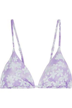 ONIA Women Bikinis - Woman Alexa Floral-print Triangle Bikini Top Lilac Size L
