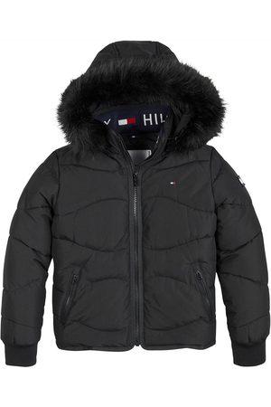 Tommy Hilfiger Girls Tonal Fur Padded Jacket