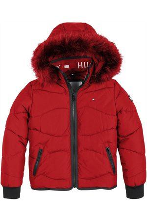 Tommy Hilfiger Girls Coats - Girls Tonal Fur Padded Jacket