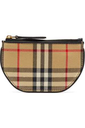 Burberry Olympia Vintage-check Small Cotton Pouch - Womens - Multi