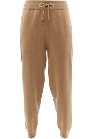 Burberry Josee Wool-blend Track Pants - Womens - Camel
