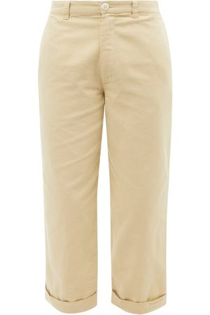 TOOGOOD The Bricklayer Cropped Cotton-canvas Trousers - Mens
