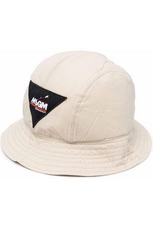 MSGM Men Hats - Logo-patch bucket hat - Neutrals