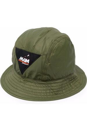 MSGM Men Hats - Logo-patch bucket hat