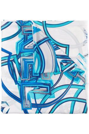 CHANEL 2020s logo print silk scarf