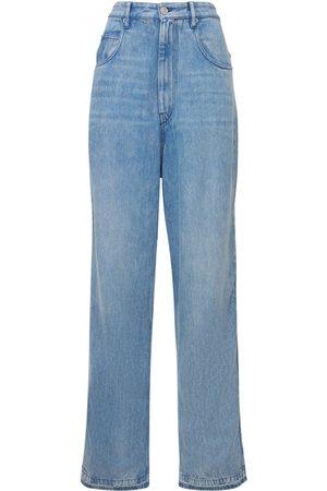Isabel Marant Women Straight - Tilorsy High Waist Straight Denim Jeans