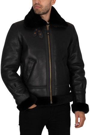 Schott NYC Men Leather Jackets - Leather Sherpa Jacket