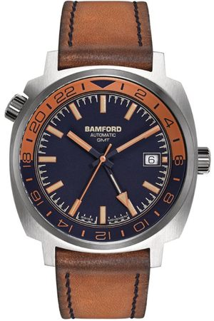 Bamford Watch Department Steel Bamford GMT & Brown Watch 40mm