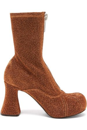 Stella McCartney Groove Metallic Zipped Platform Ankle Boots - Womens