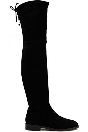 Stuart Weitzman Women High Leg Boots - Woman Jocey Stretch-suede Over-the-knee Boots Size 34