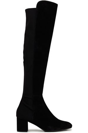 STUART WEITZMAN Woman Gillian Neoprene-paneled Stretch-suede Knee Boots Size 34