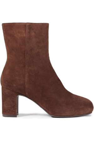 Stuart Weitzman Women Ankle Boots - Woman Gianella Suede Ankle Boots Size 34.5