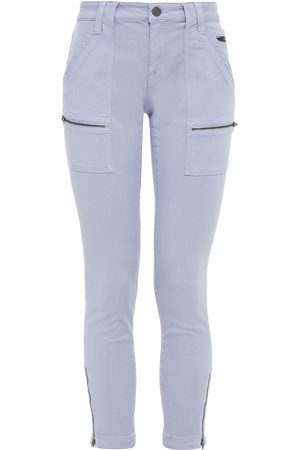 JOIE Woman Park Moto-style Cropped Cotton-blend Twill Skinny Pants Lavender Size 23