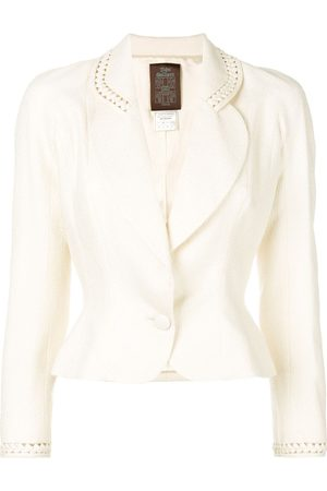 John Galliano Pre-Owned Women Blazers - Cut-out detail fitted blazer - Neutrals