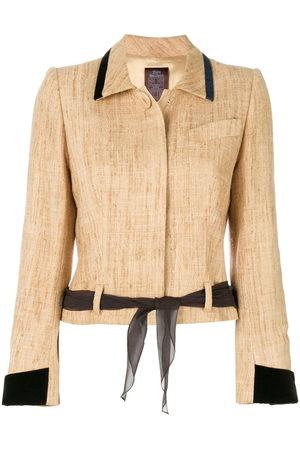 John Galliano Pre-Owned Tied waist jacket - Neutrals
