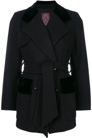 John Galliano Pre-Owned Women Summer Jackets - Belted double-breasted coat