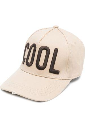 Dsquared2 Embroidered-slogan baseball cap - Neutrals