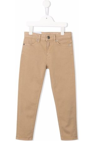 Dondup Girls Straight - Mid-rise straight-leg jeans - Neutrals
