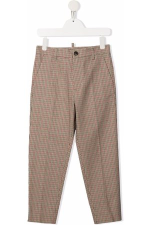 Dsquared2 Check-print tailored trousers - Neutrals