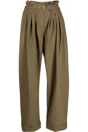 Balmain High-waist paperbag tailored trousers
