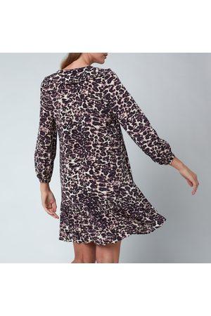 Whistles Women Printed Dresses - Women's Clouded Leopard Print Collar Dress