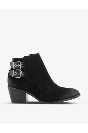 Dune Women Ankle Boots - Pinna Western heeled suede ankle boots