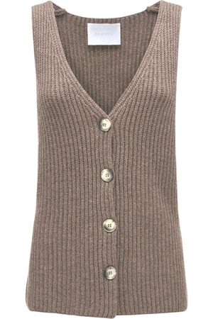 CREM38 Women Singlets - Bacco Wool & Cashmere Knit Vest