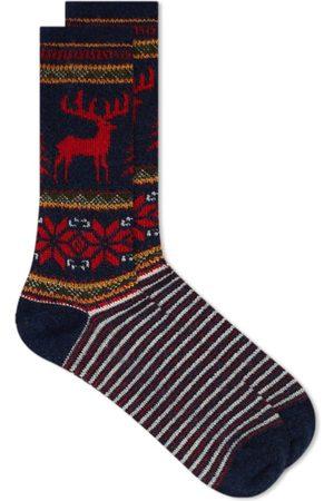 ANONYMOUS ISM Men Socks - Deer Snow Sock