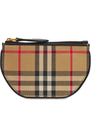 Burberry Small Olympia Coated Canvas Pouch