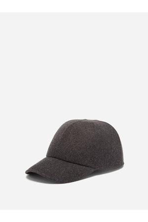 Prada Triangle-logo Felted-wool Baseball Cap - Mens