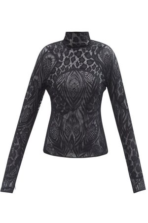 Tom Ford High-neck Chantilly-lace Blouse - Womens