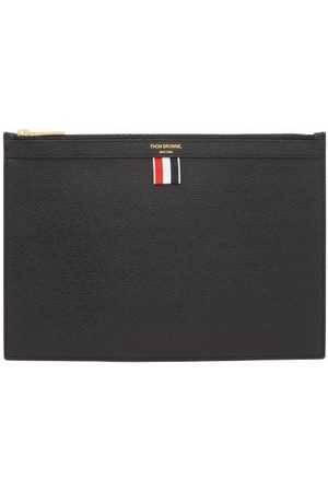 Thom Browne Men Suitcases - Pebbled-leather Pouch - Mens