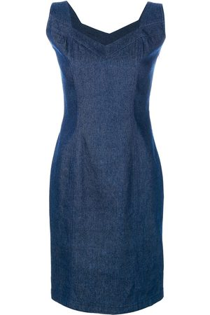 John Galliano Pre-Owned Women Sleeveless Dresses - Denim sleeveless dress