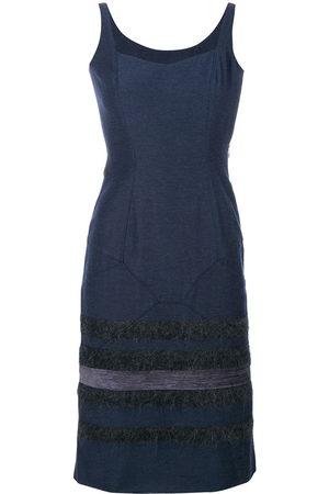 John Galliano Stripes panelled dress
