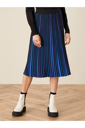 Monsoon Ceirios Colour Block Pleated Skirt