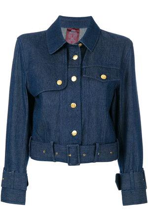 John Galliano Pre-Owned Belted denim jacket