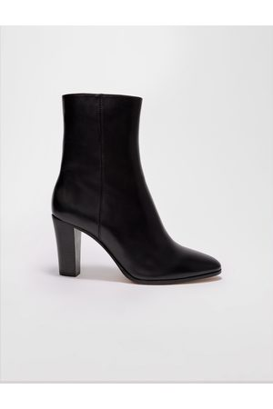 Maje Women Ankle Boots - Heeled Leather Ankle Boots